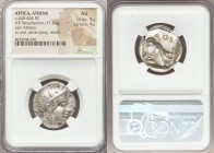 ATTICA. Athens. Ca. 440-404 BC. AR tetradrachm (23mm, 17.20 gm, 4h). NGC AU 5/5 - 4/5. Mid-mass coinage issue. Head of Athena right, wearing crested A...