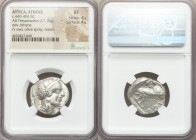 ATTICA. Athens. Ca. 440-404 BC. AR tetradrachm (23mm, 17.15 gm, 2h). NGC XF 4/5 - 4/5. Mid-mass coinage issue. Head of Athena right, wearing crested A...