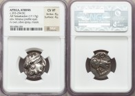 ATTICA. Athens. Ca. 393-294 BC. AR tetradrachm (21mm, 17.17 gm, 8h). NGC Choice VF 4/5 - 4/5. Head of Athena right, wearing Attic helmet ornamented wi...