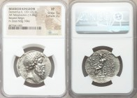SELEUCID KINGDOM. Demetrius II Nicator, second reign (129-125 BC). AR tetradrachm (31mm, 15.85 gm, 12h). NGC XF 5/5 - 2/5. Tarsus. Diademed head of De...