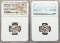 Julius Caesar, as Dictator (49-44 BC). AR denarius (20mm, 3.71 gm, 10h). NGC AU 5/5 - 4/5. Military mint traveling with Caesar in northern Italy, 49 B...