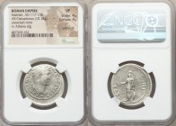 Hadrian (AD 117-138). AR cistophorus (28mm, 10.13 gm, 12h). NGC VF 4/5 - 4/5, overstruck. Uncertain mint, after AD 128. HADRIANVS-AVGVSTVS P P, bare h...