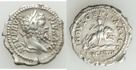 Septimius Severus (AD 193-211). AR denarius (20mm, 3.49 gm, 12h). VF. Rome, AD 202-210. SEVERVS-PIVS AVG, laureate head of Septimius Severus right / I...
