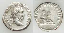 Geta, as Augustus (AD 209-211). AR denarius (17mm, 2.83 gm, 5h). About VF. Rome, AD 211. P SEPT GETA PIVS-AVG BRIT, head laureate right / FORT RED TR ...