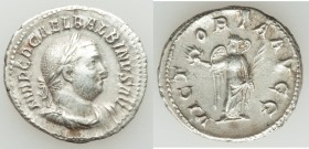 Balbinus (AD 238). AR denarius (19mm, 3.03 gm, 6h). VF. Rome, AD 238. IMP C D CAEL BALBINVS AVG, laureate, draped and cuirassed bust of Balbinus right...