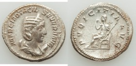 Otacilia Severa (AD 244-249). AR antoninianus (23mm, 4.63 gm, 7h). VF. Rome. MARCIA OTACIL-SEVERA AVG, draped bust of Otacilia Severa right on crescen...
