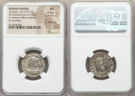 Aurelian (AD 270-275). BI antoninianus (22mm, 4.47 gm, 11h). NGC MS 5/5 - 4/5, silvering. Antioch. IMP C AVRELIANVS AVG, radiate, cuirassed bust right...