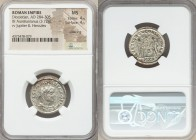 Diocletian (AD 284-305). BI antoninianus (21mm, 3.72 gm, 6h). NGC MS 4/5 - 4/5, Silvering. Antioch, 2nd officina, AD 284. IMP C C VAL DIOCLETIANVS P F...