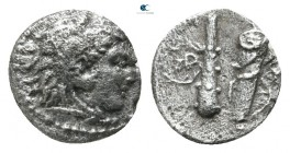 "Kings of Macedon. Uncertain mint. Alexander III ""the Great"" 336-323 BC. Hemiobol AR"