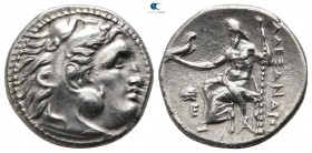 Kings of Thrace. Magnesia. Macedonian. Lysimachos 305-281 BC. In the name and types of Alexander III of Macedon. Drachm AR