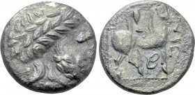 "EASTERN EUROPE. Imitations of Philip II of Macedon (2nd-1st centuries BC). Tetradrachm. ""Triskeles"" type."