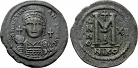 JUSTINIAN I (527-565). Follis. Nicomedia. Dated RY 12 (538/9).