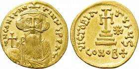 CONSTANS II (641-668). GOLD Solidus. Constantinople. Light weight issue of 23 siliquae.