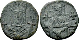 CONSTANTINE VI and IRENE (780-797). Follis. Constantinople.