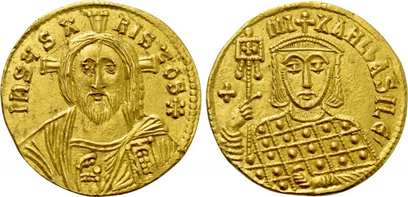 MICHAEL III 'THE DRUNKARD' (842-867). GOLD Solidus. Constantinople.