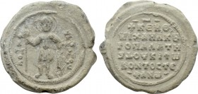 BYZANTINE LEAD SEALS. Michael Kontostephanos, kouropalates and dux of Antioch (Circa 1055).