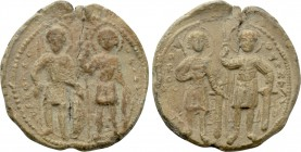 BYZANTINE LEAD SEALS. Uncertain (Circa 12h-13th centuries).