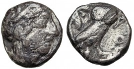 ATTICA. Athens. 440-404 BC. AR tetradrachm. Mid-mass coinage issue. Imitative