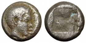 LESBOS, Unattributed early mint. c. 450 BC. BI 1/12 Stater.