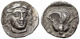 ISLANDS off CARIA, Rhodos. Rhodes. Circa 340-316 BC. AR Hemidrachm