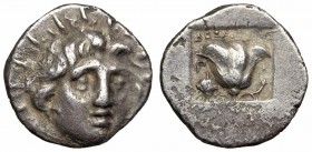 ISLANDS off CARIA, Rhodos. Rhodes. Circa 170-150 BC. AR Hemidrachm