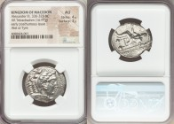 MACEDONIAN KINGDOM. Alexander III the Great (336-323 BC). AR tetradrachm (27mm, 16.97 gm, 8h). NGC AU 4/5 - 3/5. Lifetime or early posthumous issue of...