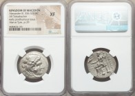 MACEDONIAN KINGDOM. Alexander III the Great (336-323 BC). AR tetradrachm (25mm, 11h). NGC XF. Lifetime or early posthumous issue of Tyre, by Laomedon,...