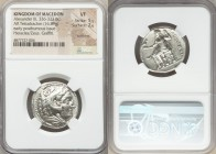 MACEDONIAN KINGDOM. Alexander III the Great (336-323 BC). AR tetradrachm (27mm, 16.89 gm, 5h). NGC VF 5/5 - 2/5, scratches, graffiti. Lifetime or earl...