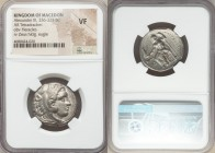 MACEDONIAN KINGDOM. Alexander III the Great (336-323 BC). AR tetradrachm (27mm, 5h). NGC VF. Lifetime issue of 'Amphipolis', ca. 336-323 BC. Head of H...