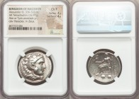 MACEDONIAN KINGDOM. Alexander III the Great (336-323 BC). AR tetradrachm (28mm, 16.97 gm, 12h). NGC Choice Fine 4/5 - 4/5. Lifetime or early posthumou...