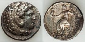 MACEDONIAN KINGDOM. Alexander III the Great (336-323 BC). AR tetradrachm (27mm, 16.75 gm, 8h). VF, scratches Lifetime or early posthumous issue of Ara...