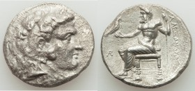 MACEDONIAN KINGDOM. Alexander III the Great (336-323 BC). AR tetradrachm (27mm, 16.62 gm, 1h). XF, roughness. Late lifetime or early posthumous issue ...