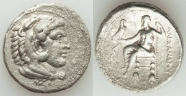 MACEDONIAN KINGDOM. Alexander III the Great (336-323 BC). AR tetradrachm (25mm, 16.60 gm, 1h). VF, roughness. Lifetime issue of Salamis, 332-323 BC. H...