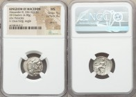 MACEDONIAN KINGDOM. Alexander III the Great (336-323 BC). AR drachm (18mm, 4.28 gm, 1h). NGC MS 5/5 - 4/5, die shift. Lifetime or early posthumous iss...