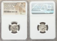 MACEDONIAN KINGDOM. Alexander III the Great (336-323 BC). AR drachm (17mm, 4.32 gm, 1h). NGC MS 4/5 - 4/5. Sardes, ca. 323-322 BC. Head of Heracles ri...