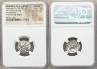 MACEDONIAN KINGDOM. Alexander III the Great (336-323 BC). AR drachm (17mm, 4.32 gm, 12h). NGC Choice AU 5/5 - 5/5. Lifetime issue of Sardes, ca. 325-3...