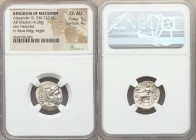 MACEDONIAN KINGDOM. Alexander III the Great (336-323 BC). AR drachm (4.28 gm, 12h). NGC Choice AU 5/5 - 4/5. Lifetime issue of Sardes, ca. 334-323 BC....