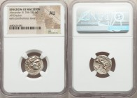 MACEDONIAN KINGDOM. Alexander III the Great (336-323 BC). AR drachm (17mm, 10h). NGC AU. Posthumous issue of Lampsacus, ca. 310-301 BC. Head of Heracl...