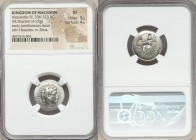MACEDONIAN KINGDOM. Alexander III the Great (336-323 BC). AR drachm (18mm, 4.25 gm, 6h). NGC XF 5/5 - 4/5. Lifetime issue of Miletus, ca. 325-323 BC. ...