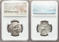 MACEDONIAN KINGDOM. Philip III Arrhidaeus (323-317 BC). AR tetradrachm (27mm, 17.12 gm, 12h). NGC Choice XF 4/5 - 3/5. Lifetime issue of Sidon, under ...