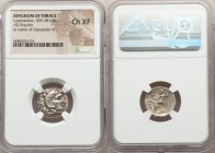 THRACIAN KINGDOM. Lysimachus (305-281 BC). AR drachm (18mm, 12h). NGC Choice XF. Posthumous issue of Colophon, in the name and types of Alexander III ...