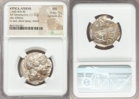 ATTICA. Athens. Ca. 440-404 BC. AR tetradrachm (27mm, 17.21 gm, 7h). NGC MS 5/5 - 3/5. Mid-mass coinage issue. Head of Athena right, wearing crested A...