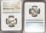ATTICA. Athens. Ca. 440-404 BC. AR tetradrachm (25mm, 17.20 gm, 4h). NGC AU 5/5 - 5/5. Mid-mass coinage issue. Head of Athena right, wearing crested A...