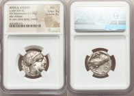ATTICA. Athens. Ca. 440-404 BC. AR tetradrachm (23mm, 17.20 gm, 1h). NGC AU 4/5 - 4/5. Mid-mass coinage issue. Head of Athena right, wearing crested A...