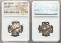 ATTICA. Athens. Ca. 440-404 BC. AR tetradrachm (23mm, 17.15 gm, 1h). NGC XF 4/5 - 2/5, scratches. Mid-mass coinage issue. Head of Athena right, wearin...