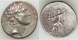 SELEUCID KINGDOM. Antiochus IV Epiphanes (175-164 BC). AR tetradrachm (30mm, 16.89 gm, 1h). Choice VF. Ake, Antioch in Ptolemais, ca. 167-164 BC. Diad...