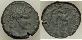 JUDAEA. Caesarea Maritima. Herodians. Agrippa II (AD 49/50-94/5). AE (19mm, 6.40 gm, 11h). VF. Dated Regnal Year 24 (AD 83/4) of Agrippa's second era....