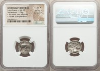 Julius Caesar, as Dictator (49-44 BC). AR denarius (18mm, 3.74 gm, 9h). NGC Choice Fine 4/5 - 4/5. Military mint traveling with Caesar in northern Ita...