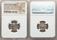 Q. Caecilius Metellus Pius Scipio, as Imperator (47-46 BC). AR denarius (17mm, 3.51 gm, 10h). NGC Choice Fine 5/5 - 5/5. Military mint moving with Sci...