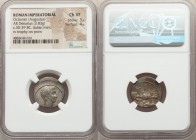 Octavian, as Sole Imperator (31-27 BC). AR denarius (19mm, 3.83 gm, 3h). NGC Choice VF 3/5 - 4/5. Uncertain Italian mint, ca. 30-29 BC. Anepigraphic, ...